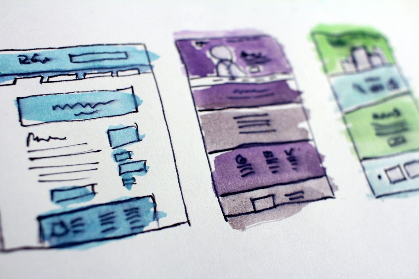 A quick sketch about website structure on a paper